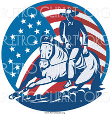 Horse With American Flag Horse American Flag Clipart Clipground
