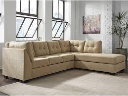 chaise sleeper sofa benchcraft maier cocoa 2 piece sectional w sleeper sofa u0026 right