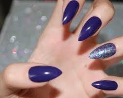 fake nails stiletto etsy
