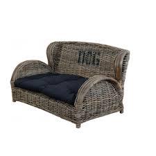 canapé pour chien grande taille sofa en rotin pour petit et grand chien design chic