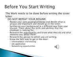 what should i put on a cover letter good what is required in a