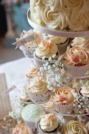 wedding cake and cupcakes crafty rustic outdoor barn wedding at court with a