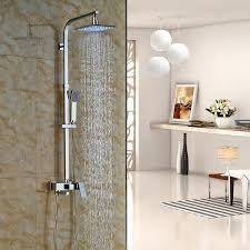 Brass Shower Faucets Chrome Finished Wall Mounted Shower Faucet 8