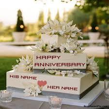 wedding cake name write your name on anniversary cakes