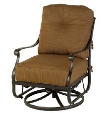 Patio Furniture Swivel Chairs Mayfair By Hanamint Luxury Cast Aluminum Patio Furniture Swivel