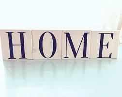 Decorative Letter Blocks For Home Wooden Letter Blocks Etsy