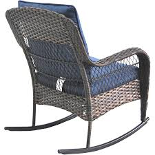 Blue Wicker Rocking Chair Amazon Com Better Homes And Gardens Colebrook Rocking Chair Blue