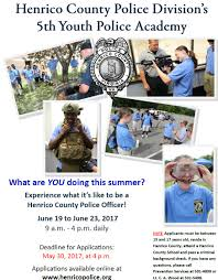 deadline to register for youth police academy county of henrico