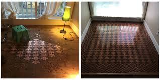 Bathroom Floor Pennies Diy Floor From Pennies How To Make Floor Design With Pennies