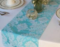 ice blue table runner taffeta table runner etsy