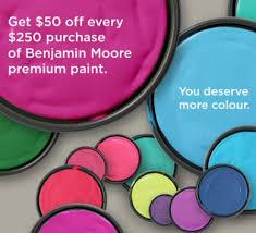 benjamin moore paint prices benjamin moore 50 off when you spend 250 on benjamin moore
