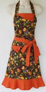 thanksgiving apron sunflower apron thanksgiving autumn leaves womens apron retro