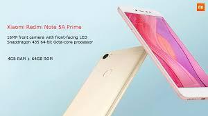 Xiaomi Redmi 5a Xiaomi Redmi Note 5a Prime 5 5 Inch 4gb Ram 64gb Rom Snapdragon