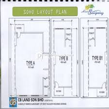 450 sq ft apartment soho for sale at alam sanjung service apartments shah alam for rm