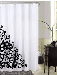 shower curtain black white foter