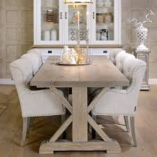 dining room table ideas made to order x style farmhouse trestle table jacobean stain