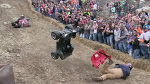 barbie jeep wild redneck knockout barbie jeep racing youtube