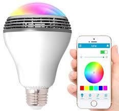 Bluetooth Light Bulb Speaker Geeek Led Lamp With Bluetooth Speaker Rgbw Playbulb Geeektech Com