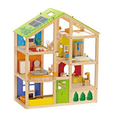 dolls house kitchen furniture amazon com hape family pets wooden doll house animals toys u0026 games
