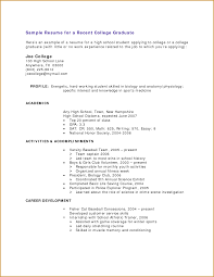 Resume Examples College Students by 66 Example College Resumes Resume With No Work Experience