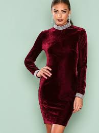 velvet dress beaded velvet dress nly one burgundy party dresses