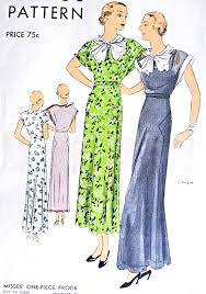 1930s beautiful evening party dress frock pattern vogue 6289 tea
