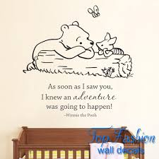 classic pooh as soon as i saw you i knew an adventure was going to classic pooh as soon as i saw you i knew an adventure was going to happen baby quote vinyl wall decal winnie pooh wall stickers in wall stickers from home