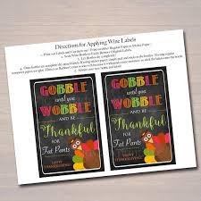 printable wine label thanksgiving turkey printable chalkboard