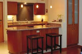 engaging image of kitchen decoration with small wooden kitchen bar