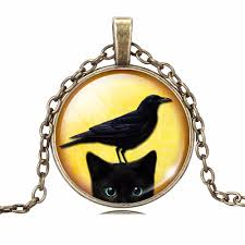 black cat pendant necklace images Peeking black cat pendant necklace the purrrfect kitty gift jpg