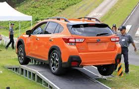 subaru crosstrek off road tires first look 2018 subaru crosstrek autoz