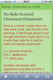 cinnamon ornament poem to go with cinnamon ornaments