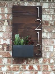 Succulent Planters For Sale by Beautiful Custom House Numbers Plaque Utilizing Reclaimed Wood And