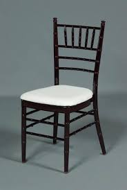 mahogany chiavari chair mahogany chiavari chair with white cushion chairs be seated