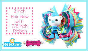 3 8 inch ribbon how to make a 3 inch hair bow with 7 8 inch ribbon octonauts