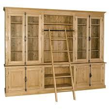 Large Ladder Bookcase Bookcase Large Raw Oak Shelf Ladder Large Bookcase With Ladder
