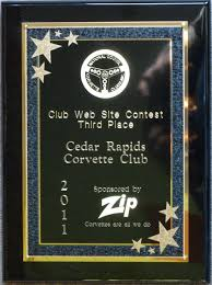 national council of corvette clubs web site award 2011 jpg