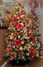 tree with bright reds and greens are accented with pops of
