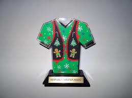 awesome ugly sweater award trophy 7