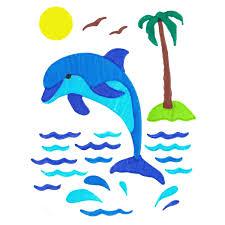 dolphin colorfoldz self aligning stencil coloring book