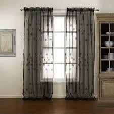 black sheer curtains interior design