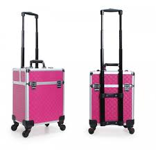 makeup artist box makeup artist tool box 4 wheels aluminium trolley beauty suitcase