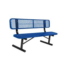 Commercial Outdoor Benches In Ground Install Black Park Benches Park Furnishings The