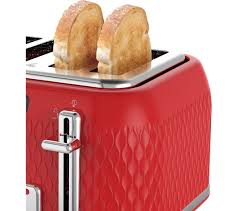 Red Kettle And Toaster Buy Breville Curve Vtt914 4 Slice Toaster Red Free Delivery