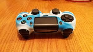 ps4 controller white light eemerch light blue white ps4 controller grip