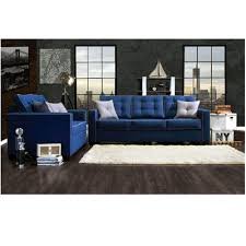 contemporary blue fabric sofa