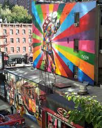 what happened to the high line kiss mural new york cliche