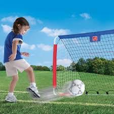 amazon com step2 kickback soccer goal and pitch back toys u0026 games