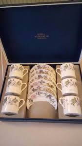 royal worcester bone china coffee set june garland boxed