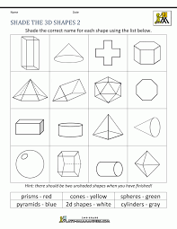 free printable geometry worksheets 3rd grade maths 2d shapes math